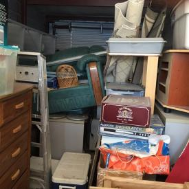 MaxSold Auction: This storage locker auction features 4 lockers containing a variety of household items, tools, furniture, electronics and more.